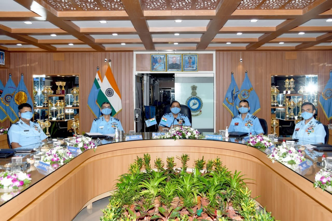 IAF Chief RKS Bhadauria Visits Southern Air Command For Commanders Conference - 1