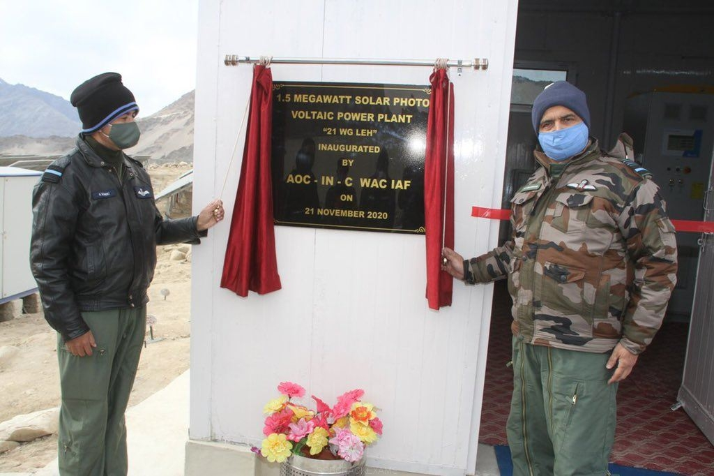 Largest Solar Project At Leh Indian Air Force Station - 1