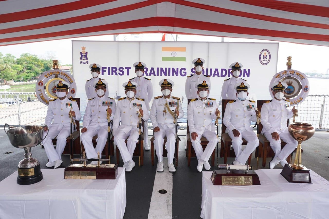 Passing Out Of 104 Officer Trainees Of The Executive Branch Of The Indian Navy Held At Naval Base - 1