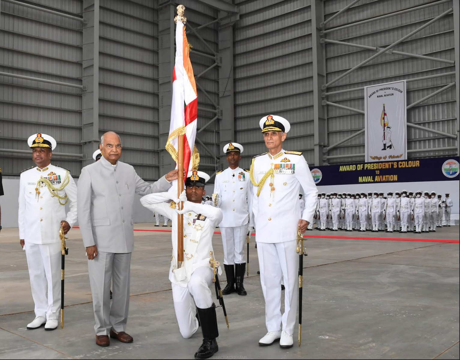 PRESIDENT'S COLOUR PRESENTED TO NAVAL AVIATION - 1
