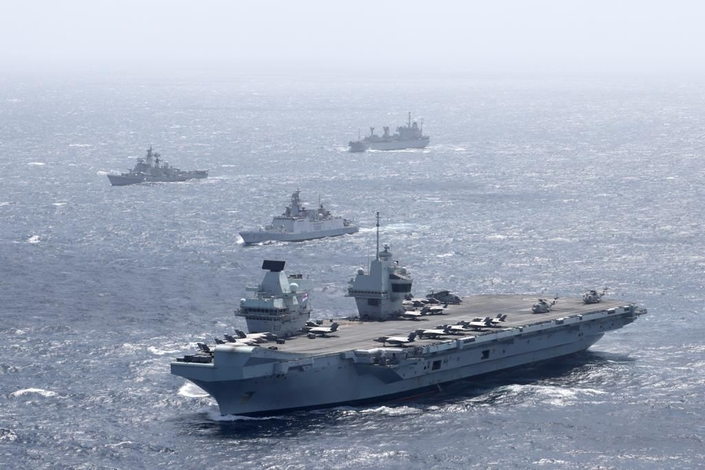UK Carrier Strike Group And Indian Navy Joint Maritime Exercises - 1