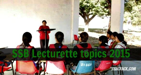 Lecturette topics in ssb