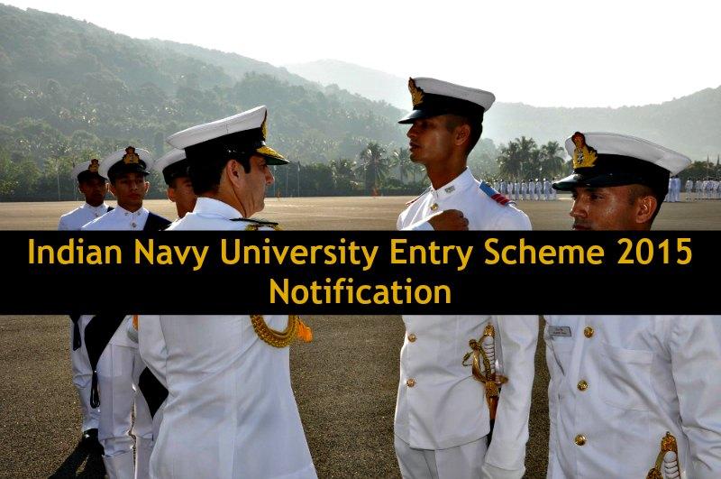 Indian Navy University Entry Scheme 2015 Notification