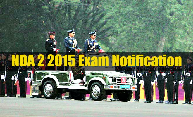 NDA 2 2015 exam notification