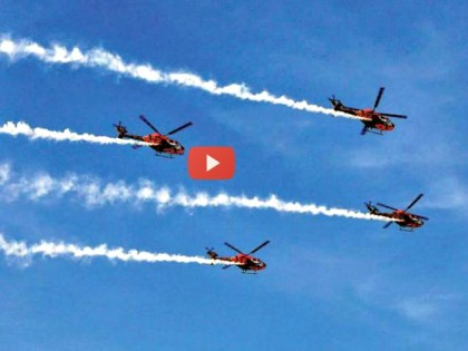 Indian Air Force Helicopter show