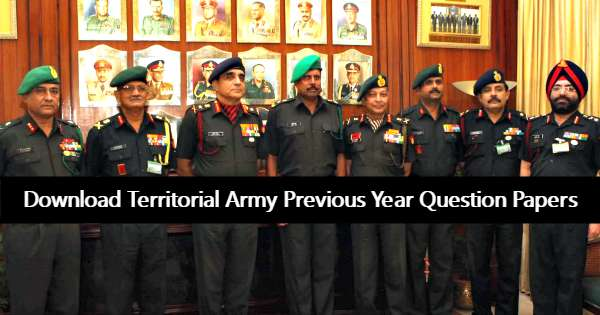 Territorial army officer exam question paper 2018 2019 student forum.