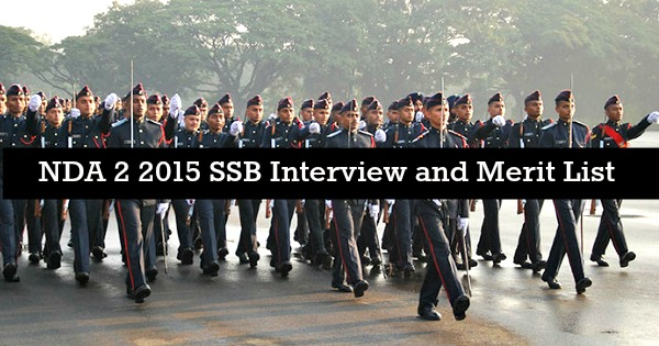 NDA 2 2015 SSB Interview and Merit List