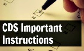 CDS Exam Written Test Important Instructions