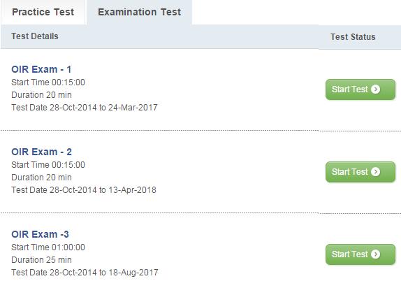 OIR Mock Test