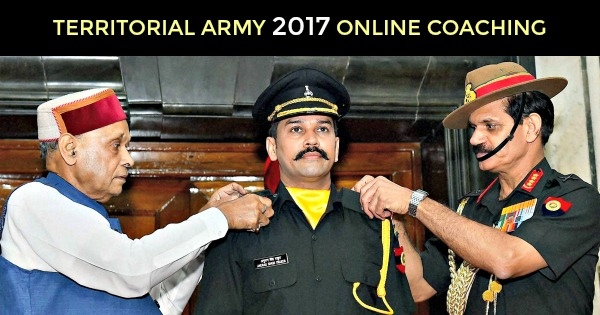 TERRITORIAL ARMY 2017 ONLINE COACHING