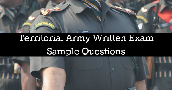 Territorial army question paper answer keys 2017 [original].