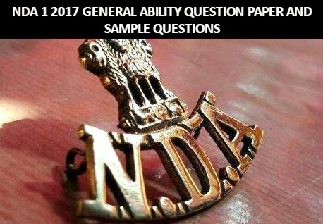 Nda 1 2017 general ability question paper and sample questions download question paper malvernweather Gallery