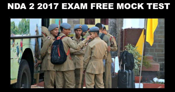 NDA 2 2017 Exam Free Mock Test