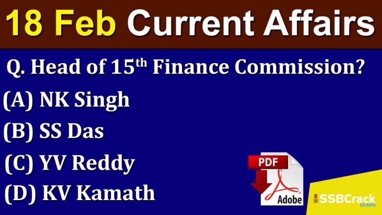 Current-Affairs-18th-Feb-2020
