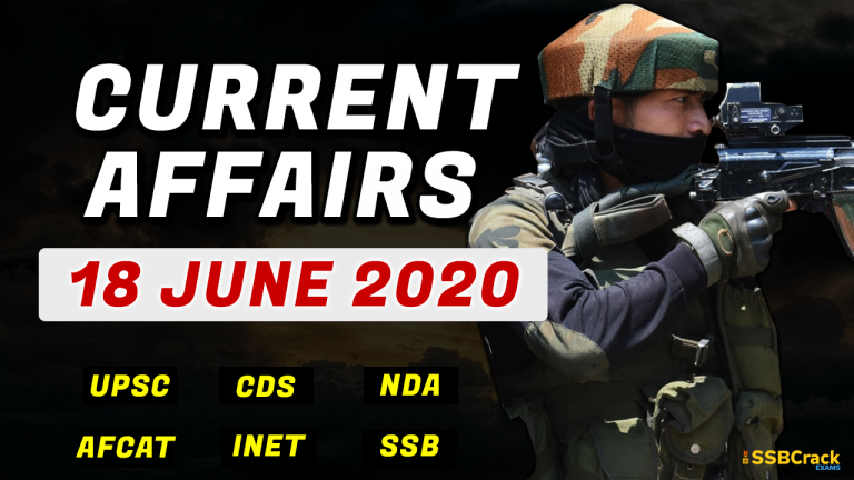 18 June 2020 Current Affairs