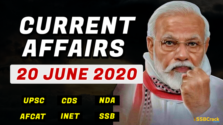 20 June 2020 Current Affairs