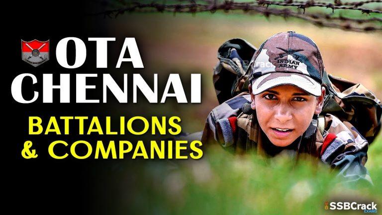 OTA Chennai Battalions And Companies