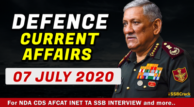 07 July Defence Currrent Affairs