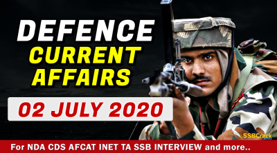 2 July 2020 Defence Current Affairs