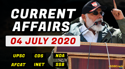 4 July 2020 Current Affairs