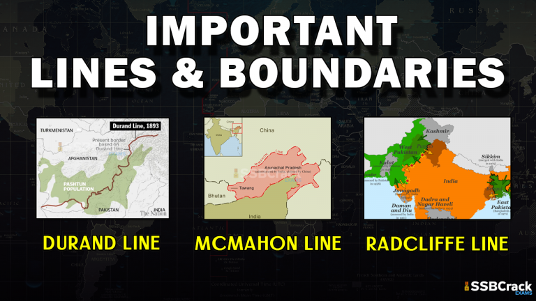 Lists Of Important Boundaries Lines In The World