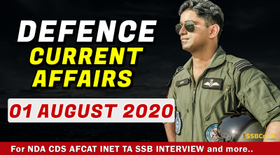 1 August 2020 Defence Current Affairs