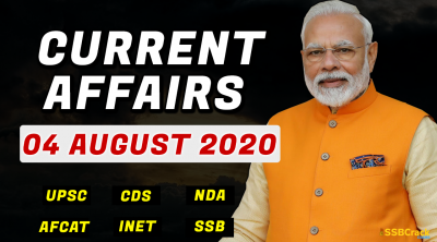 4 August 2020 Current Affairs