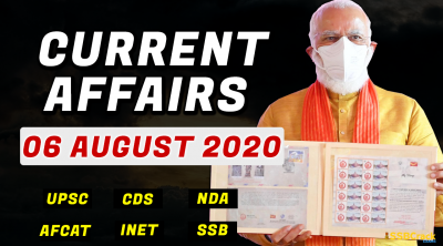 6 August 2020 Current Affairs