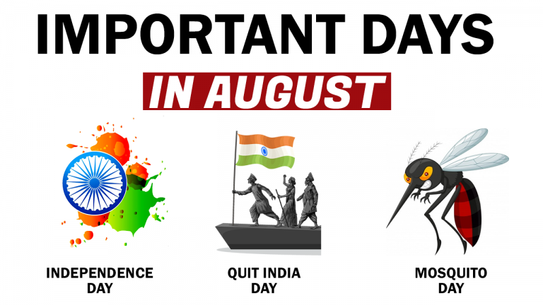 List Of Important Days In August Month
