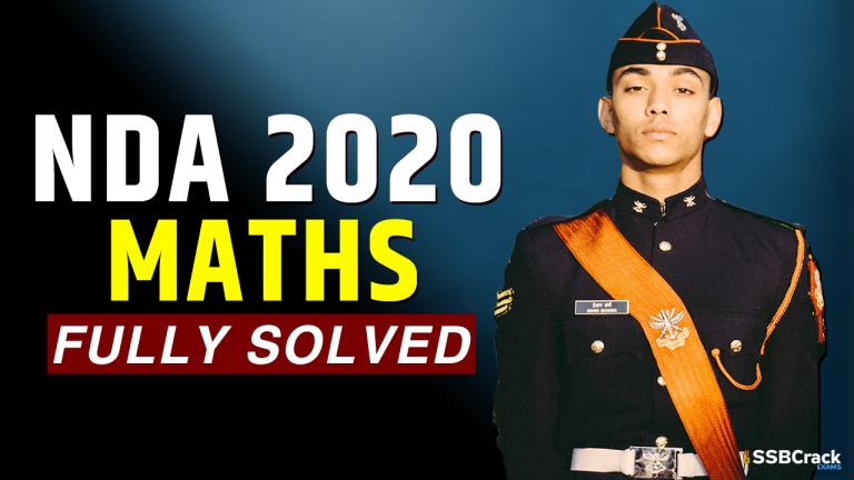 NDA Exam 2020 Maths Paper Fully Solved
