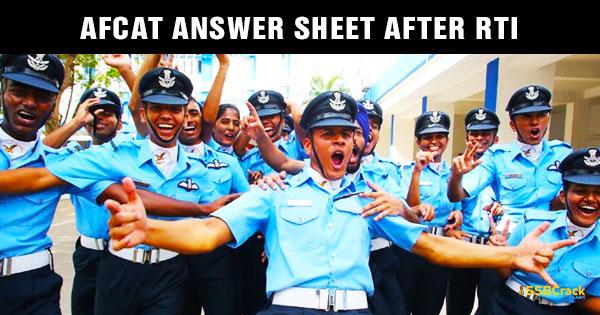 AFCAT-Answer-SHEET-After-RTI