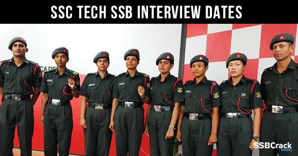 SSC-Tech-SSB-Interview-Dates