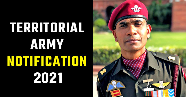 Territorial Army 2021 notification