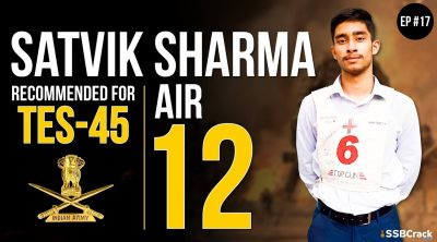 Satvik Sharma Recommended For TES 45